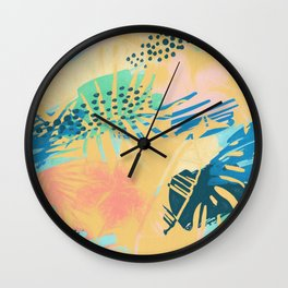 Leaves Palm Tree Wall Clock