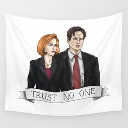 TRUST NO ONE Wall Tapestry