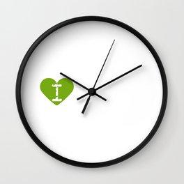 I Heart Datura | Love Datura Wall Clock