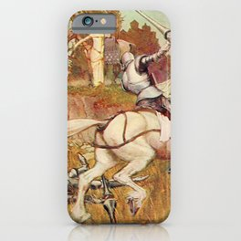 Jousting knights iPhone Case