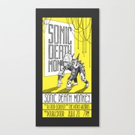 Sonic Death Monkey gig poster Canvas Print