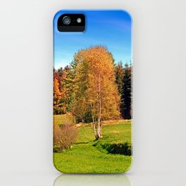Tree in springtime scenery | landscape photography iPhone Case