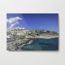 Castro Marina Landscape Salento art home photo Metal Print
