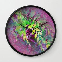 Leaf Illusion 2 Wall Clock