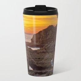 Olhos d'Agua, sunset rocks Travel Mug