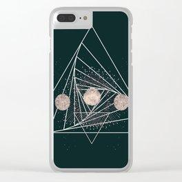 Moon Matrix Clear iPhone Case