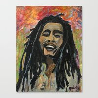rasta Canvas Prints featuring Rasta  Man by gretzky