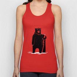Bear on snowboard Unisex Tank Top