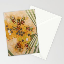 Beetles and bees Stationery Cards