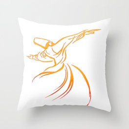 Sema The Dance Of The Whirling Dervish Throw Pillow