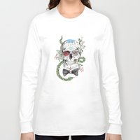 calavera Long Sleeve T-shirts featuring Calavera by Barbara Azul