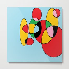 Circulos mult color Metal Print