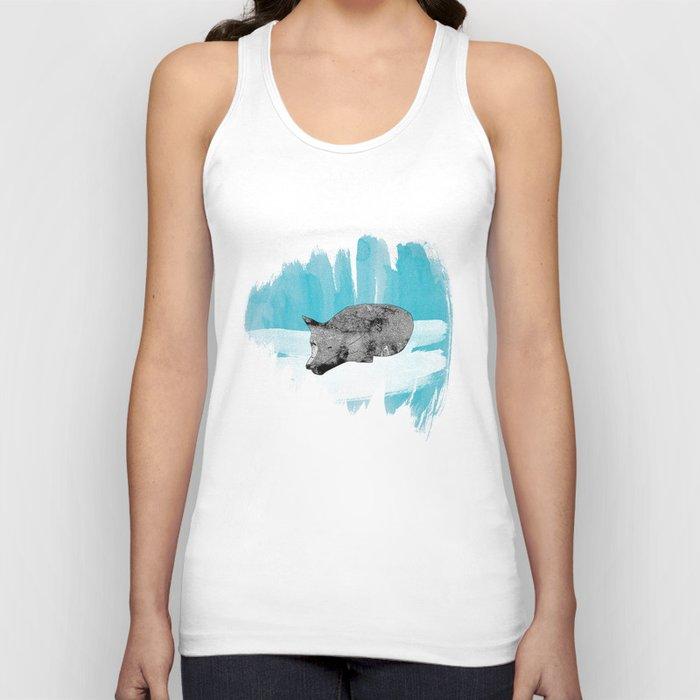 sleeping wolf Unisex Tank Top