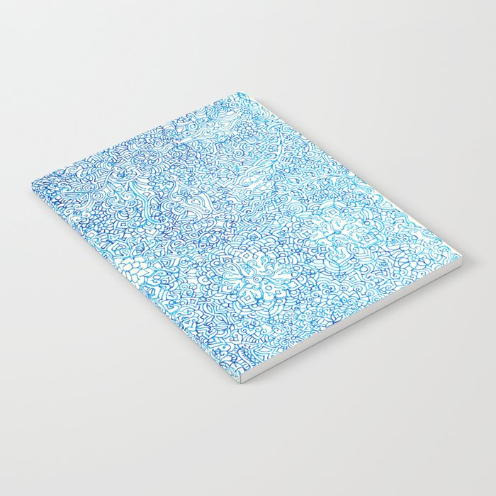 Blue Ornate Notebook