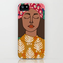 Portrait Of a Woman and Patterns iPhone Case