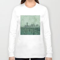 houston Long Sleeve T-shirts featuring houston city skyline by Bekim ART