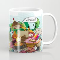 katamari Mugs featuring Chestnut Katamari by Ed Warner