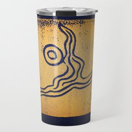 Yoga Art by Gina Lee Ronhovde Travel Mug
