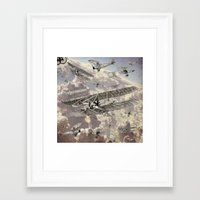 airplanes Framed Art Prints featuring airplanes 2 by Кaterina Кalinich