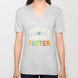 World's Greatest Farter Oops I Mean Father Shirt Unisex V-Neck