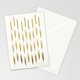 Gold Cattails Stationery Cards