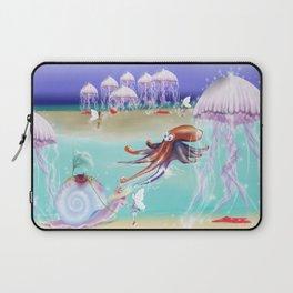 Sea Life Fairy Island,Childrens illustration Laptop Sleeve
