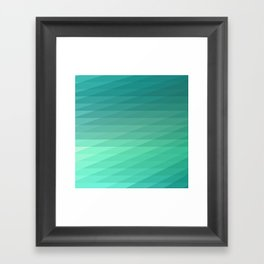 Fig. 043 Mint Green Geometric Diagonal Stripes Framed Art Print