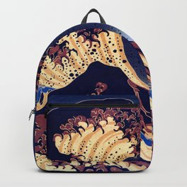 The Great Wave Off Kanagawa Inverted Katsushika Hokusai Backpack