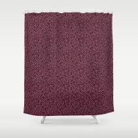 burgundy Shower Curtains featuring Burgundy by Lisi Fkz