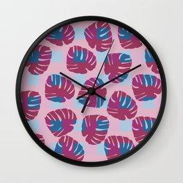 Modern Monstera Pattern D Wall Clock