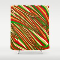 xmas Shower Curtains featuring Lov Xmas by Danny Ivan