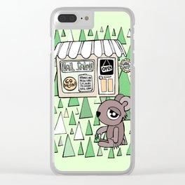 Nail Salon Bear Clear iPhone Case