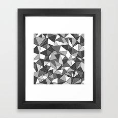Ab Collide Grey Framed Art Print
