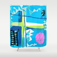 carnival Shower Curtains featuring Carnival by Monique Tyacke