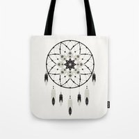dreamcatcher Tote Bags featuring Dreamcatcher by Bohemian Gypsy Jane