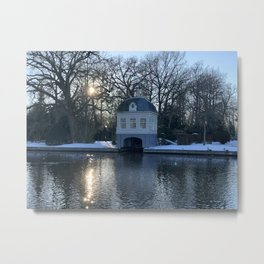 Historical Tea & Boat House | River Vecht | Amsterdam | The Netherlands Metal Print