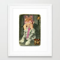 boys Framed Art Prints featuring boys by Karen Constance Collage and Paintings