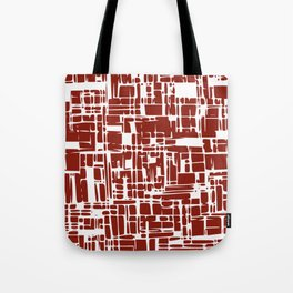 Crimson red abstract Tote Bag
