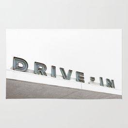 Drive In Old Vintage Sign Rug