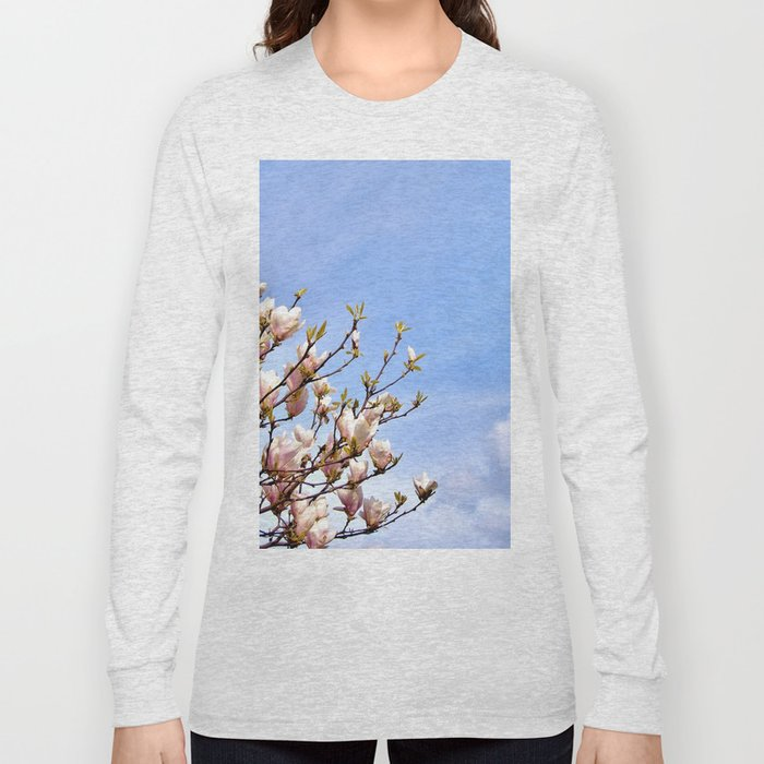 Magnolia In The Sky Long Sleeve T-shirt