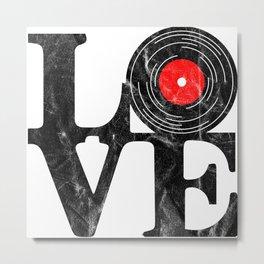 Love Vinyl Metal Print