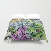 succulent Duvet Covers featuring Succulent by cwassmer