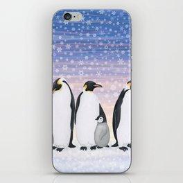 emperor penguin colony iPhone Skin