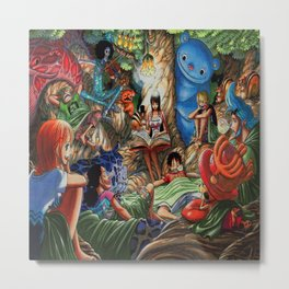 One piece of sleep with friends Metal Print