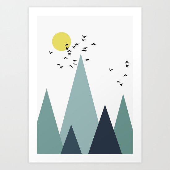 Morning birds Art Print