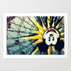 seeing mickey Art Print