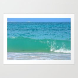 Waiting for the Big Wave Art Print