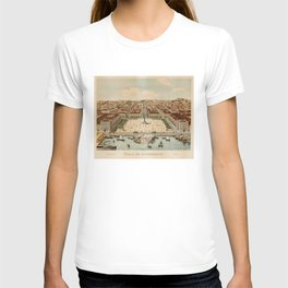 Vintage Map of Lisbon Portugal (1860) T-shirt