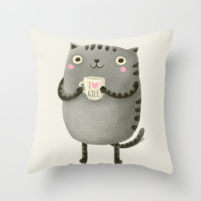 Ikill Brown Throw Pillow By 13mu Society6