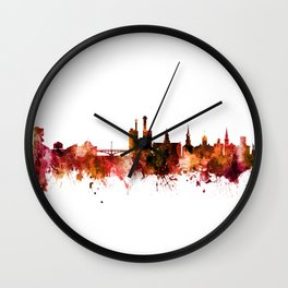 Iowa City Iowa Skyline Wall Clock